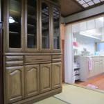 北海道 ナラ無垢食器棚