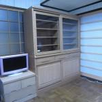 タモ無垢大型食器棚