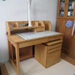 天然木 白樺無垢の学習机 自然塗装