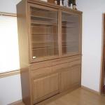 タモ無垢 食器棚