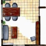 手描き平面家具配置図