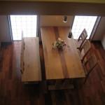 柿渋塗りダイニングテーブル