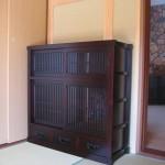 ケヤキ無垢材 和茶棚