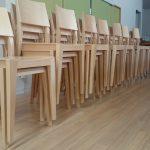 北欧デザイン 木製スタッキングチェア