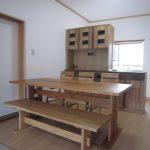 柿渋塗りナラ無垢家具 ダイニング