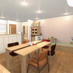 インテリアコーディネートCGーオーク無垢の家具