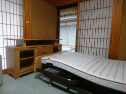 FRANCEBED電動リクライニングベッド&ナラ無垢テレビボード