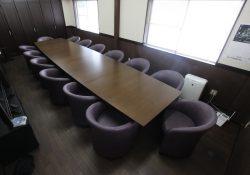 役員会議室,特大テーブル&キャスター付きチェア